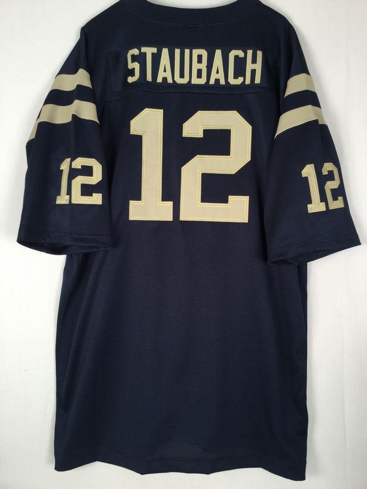 Men s ADIDAS True School Authentics Roger Staubach 12 Jersey HWA Heisman  Navy 3X  adidas  NAVY 8bedb15bf