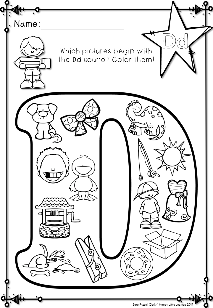 Alphabet Beginning Sound Coloring Pages. Great for