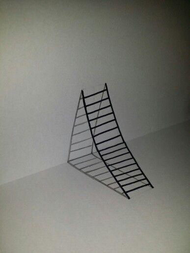 Zelfgemaakt #3d #trappetje Met potlood en stift