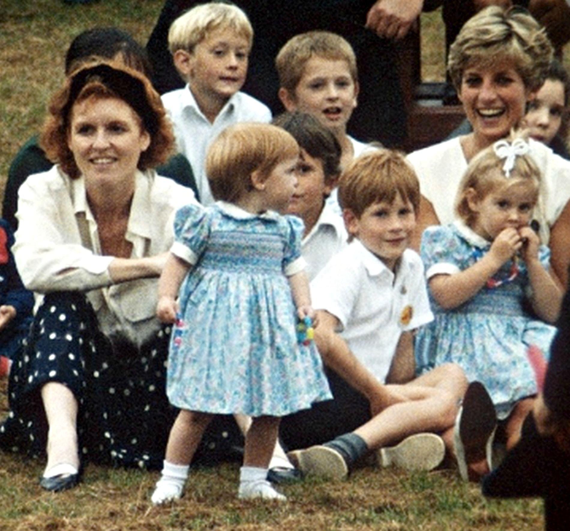 Princess Diana, Fergie, and, I think, Beatrice, Eugenie