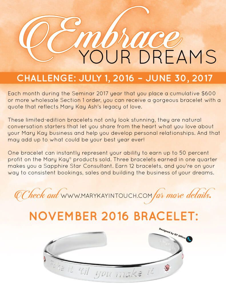 Mary kay online agreement on intouch - Embrace Your Dreams With Mary Kay November 2016
