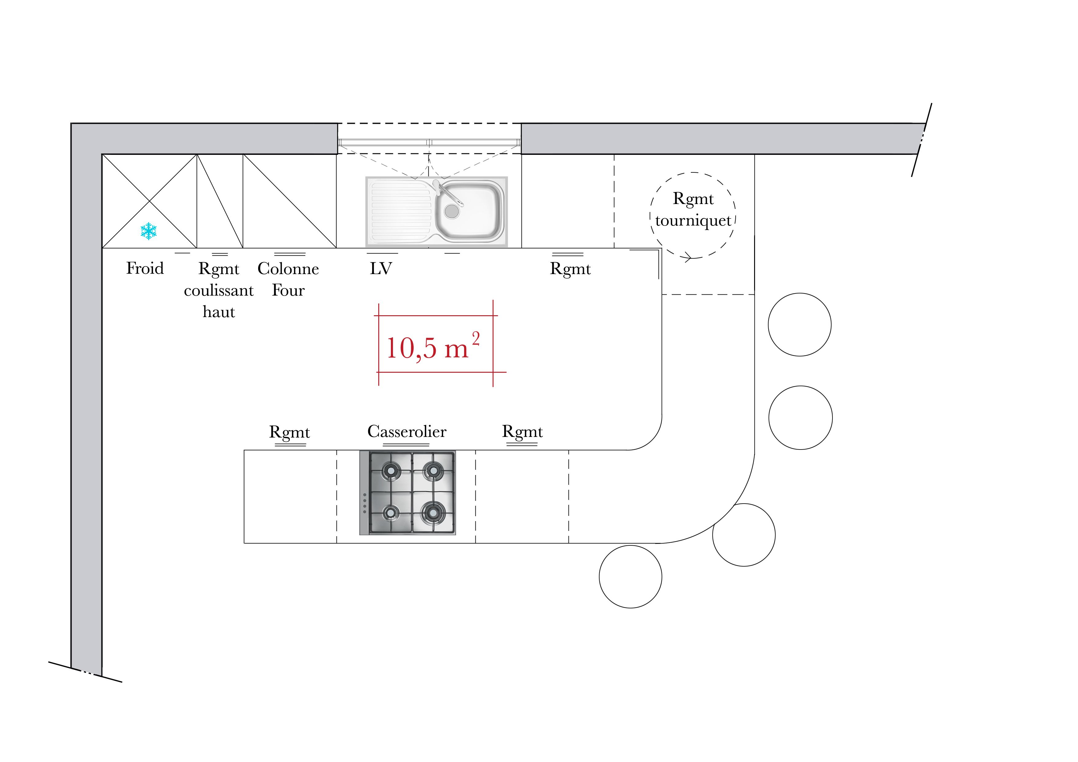 plan cuisine u - Recherche Google   mesure   Plan cuisine ...