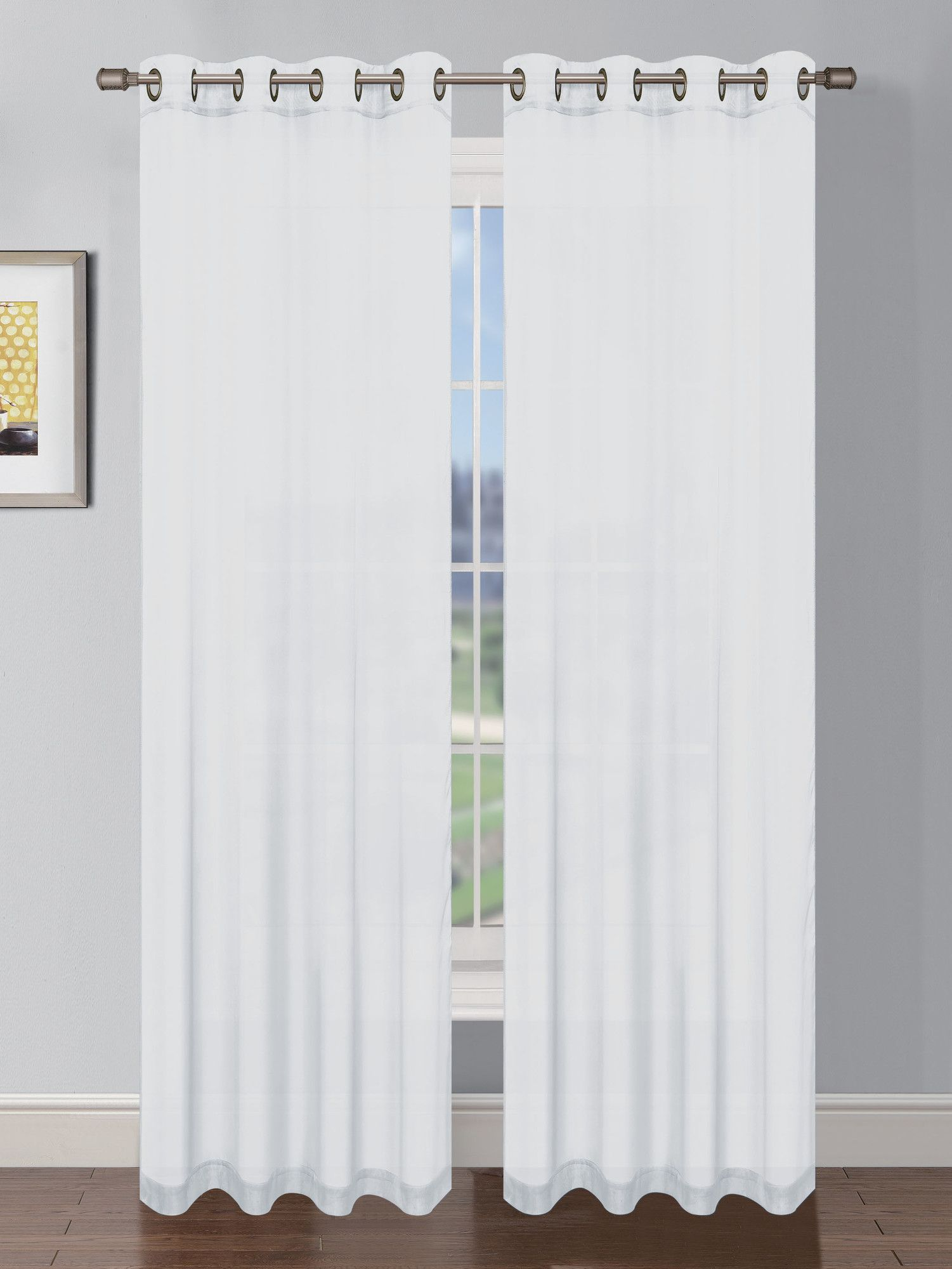 Basics Solid Blackout Grommet Single Curtain Panel Curtains