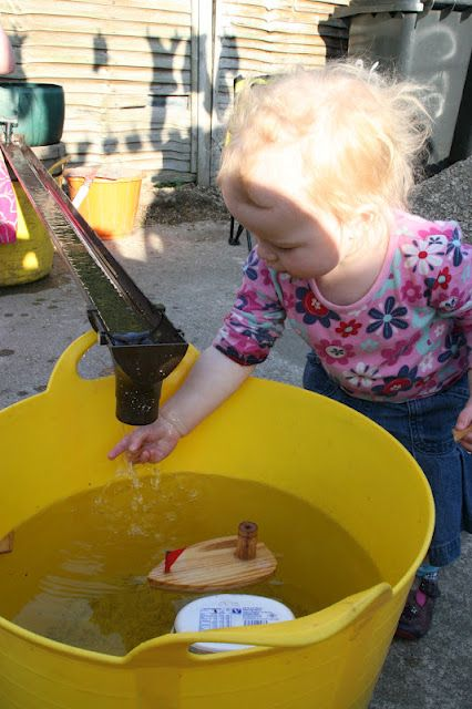 Water table with rain gutter