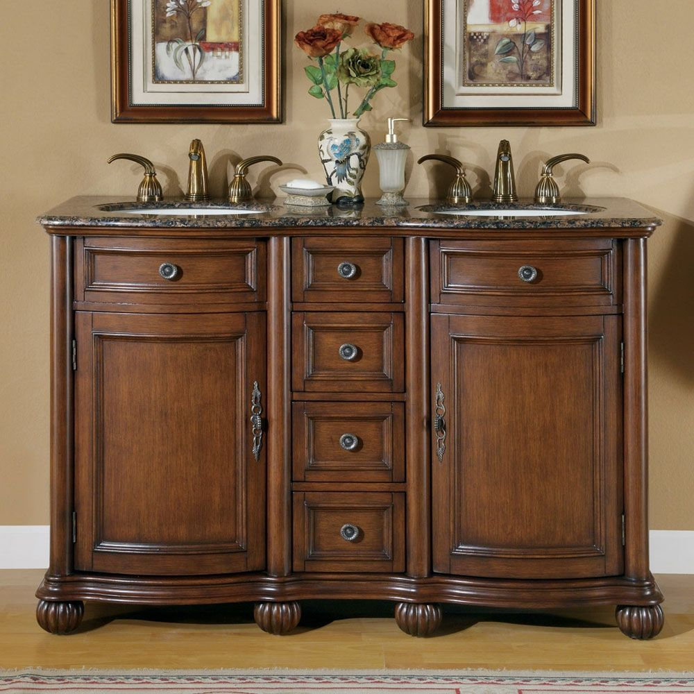 52 Inch Double Bathroom Vanity