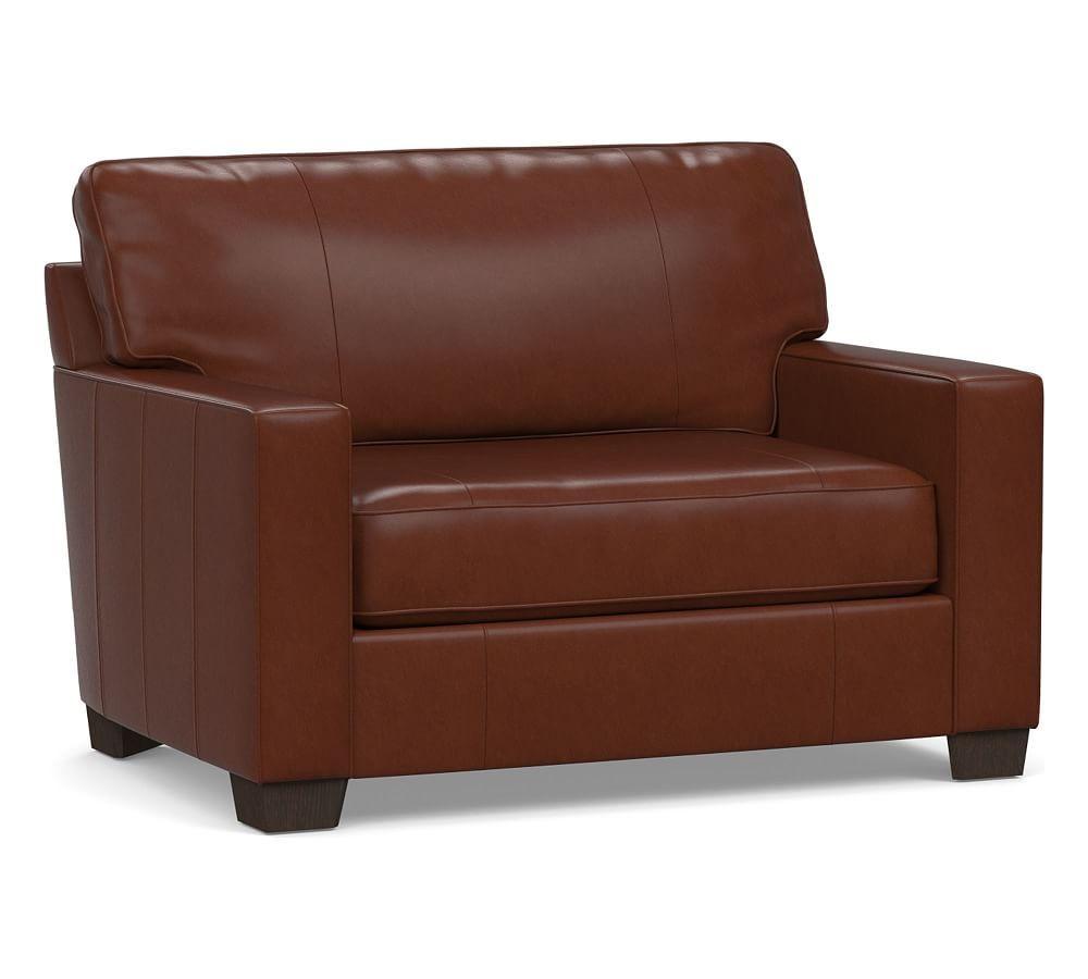 - Buchanan Square Arm Leather Twin Sleeper Sofa Products Twin