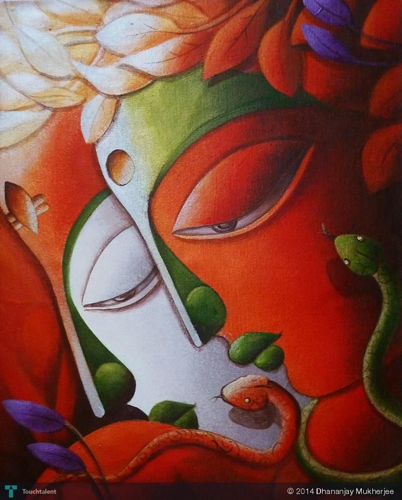 Dhiva durga creative art painting for Creative mural art