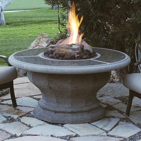 Inverted Firetable with Granite Inset (With images) | Fire ... on For Living Lawrence Fire Pit id=26323