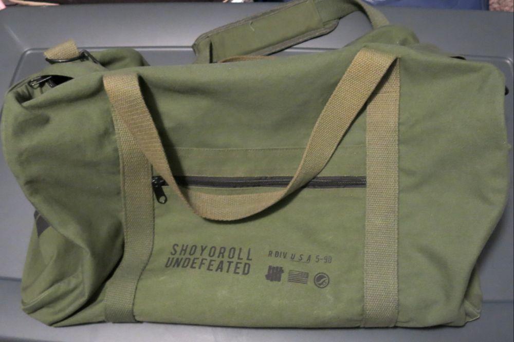 8c62f83e2e7 Shoyoroll x Undefeated Duffel Bag GUMA Exclusive GREEN syr jiujitsu ...