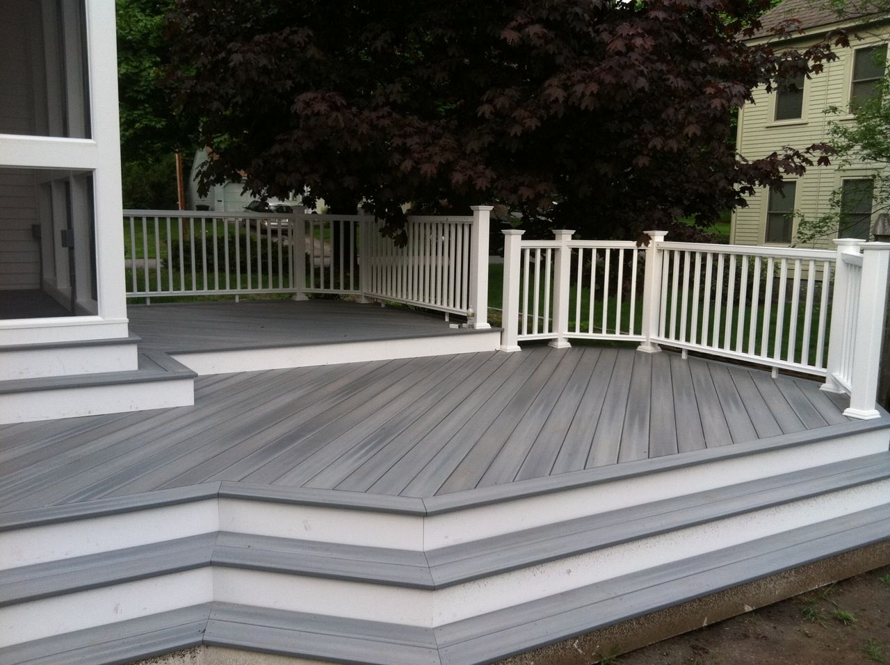 White Wooden Decking Terrace Google Search