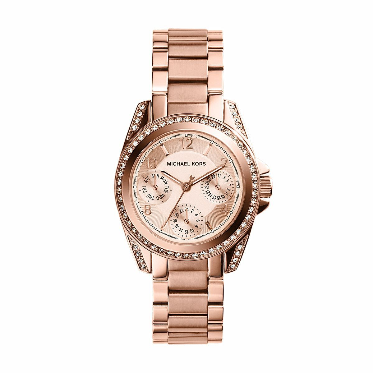 Mini Blair Rose Gold Tone Stainless Steel Watch | Rose gold