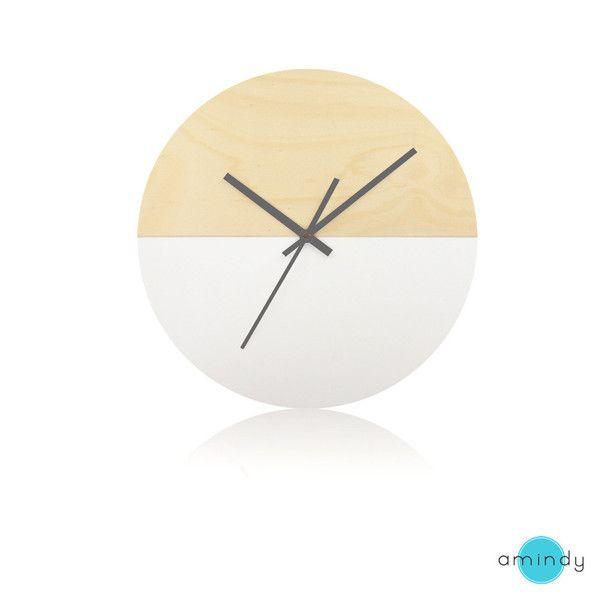 Half Moon Clock Scandinavian Snow Clock Scandinavian Clocks Moon Clock