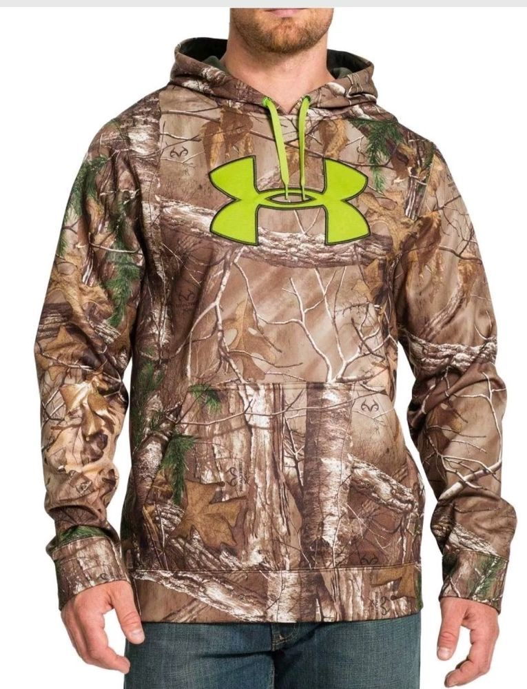 new concept eb63e 2982f New With Tags Men s Under Armour Hunting Camo Hoodie Hooded Sweatshirt Size  XL  UnderArmour  Hoodie