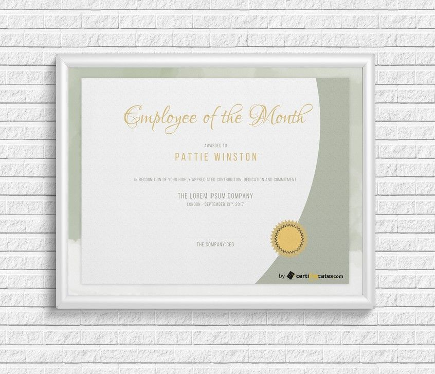 Employee of the Month Certificate Certificate and Employee - ms word certificate template