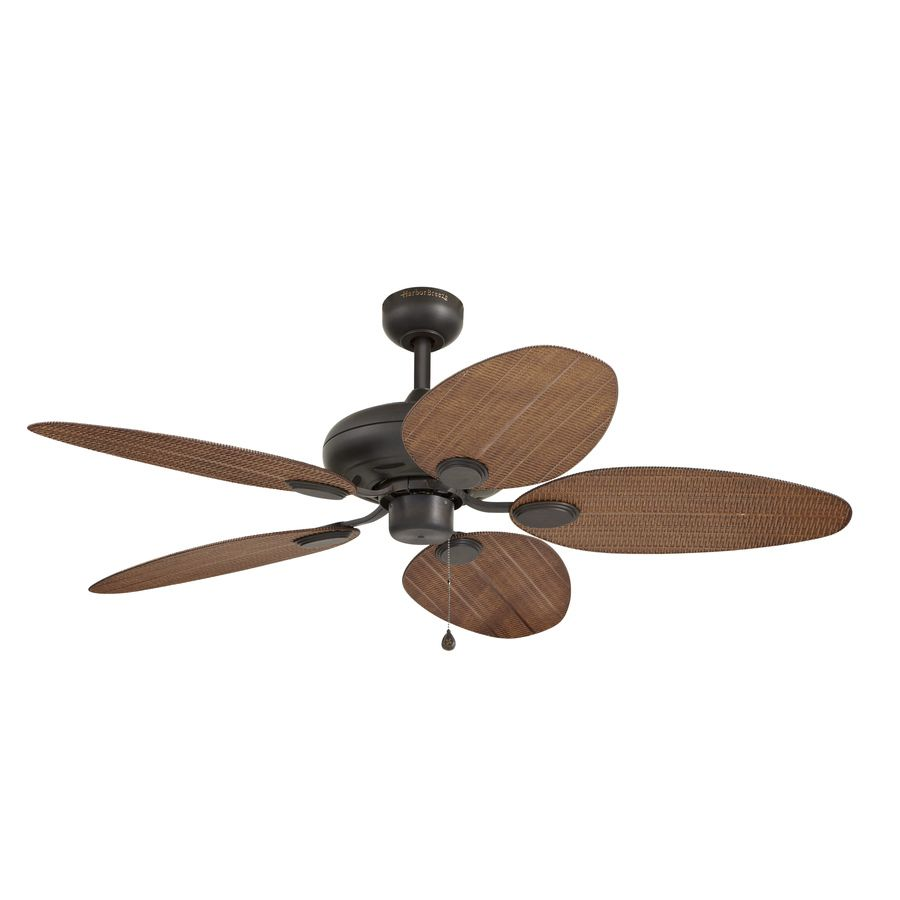 Harbor Breeze Tilghman 52 In New Bronze Downrod Or Close Mount Indoor Outdoor Residential Ceiling Fan Outdoor Ceiling Fans Ceiling Fan Flush Mount Ceiling Fan