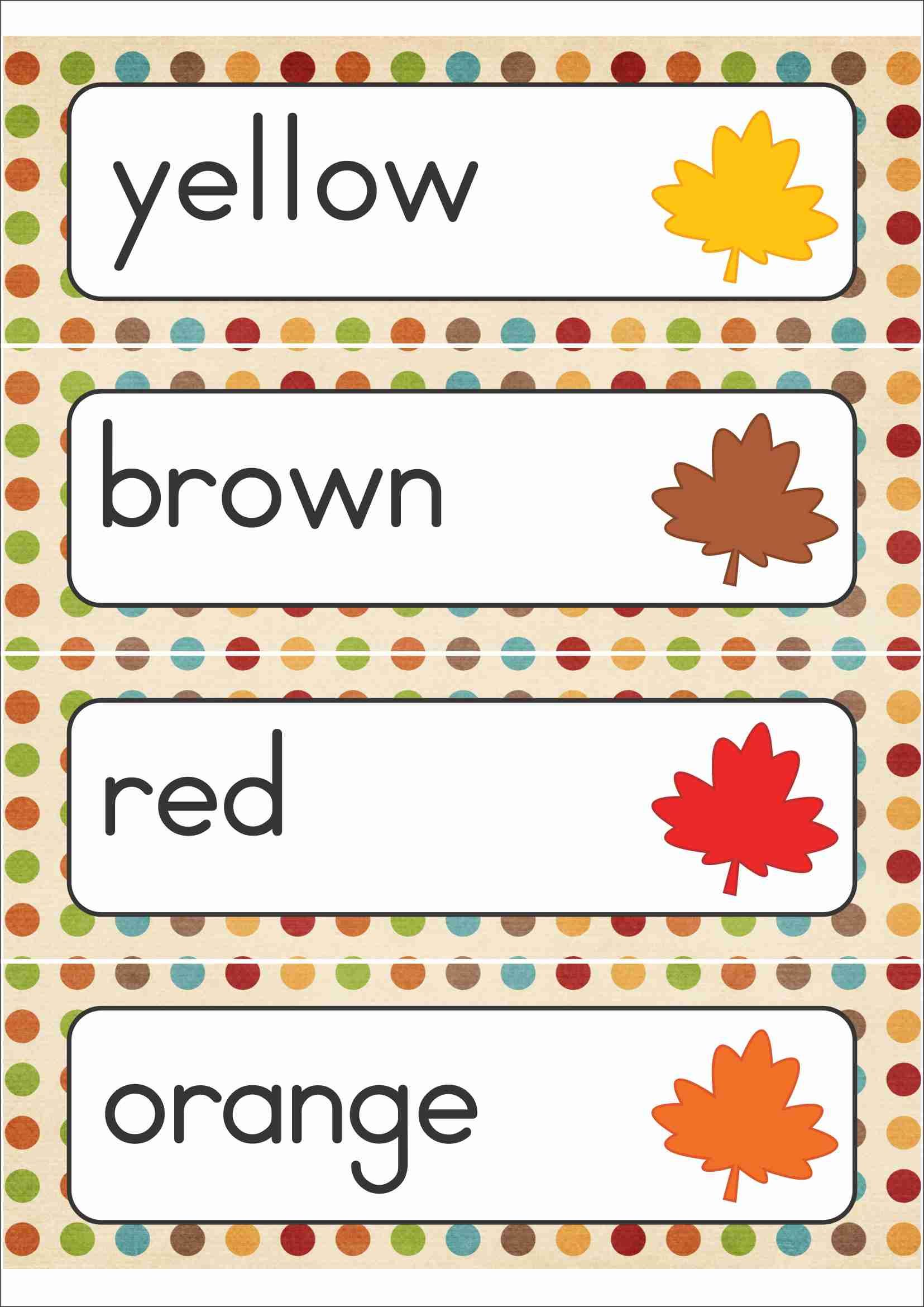 Autumn Fall Word Wall