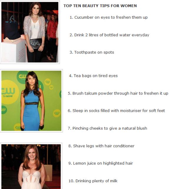 TOP TEN BEAUTY TIPS FOR WOMEN - Girls Fashion
