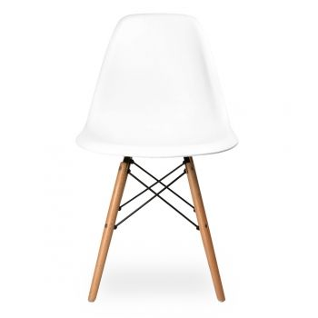 Eames Chaise DSW Flair Eames Création De 1950   Blanche   Eames Au Cult  Furniture Royaume Uni
