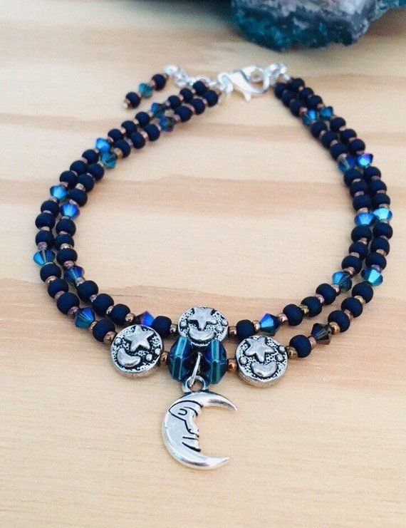 099558a55b5 Blue Moon Beaded Anklet