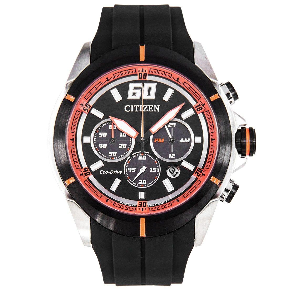 Citizen ecodrive chronograph sports watch ca410502e