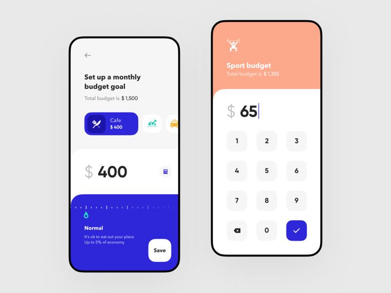 Budget Goals Setup For Banking App Banking App Budget Goals Budget App