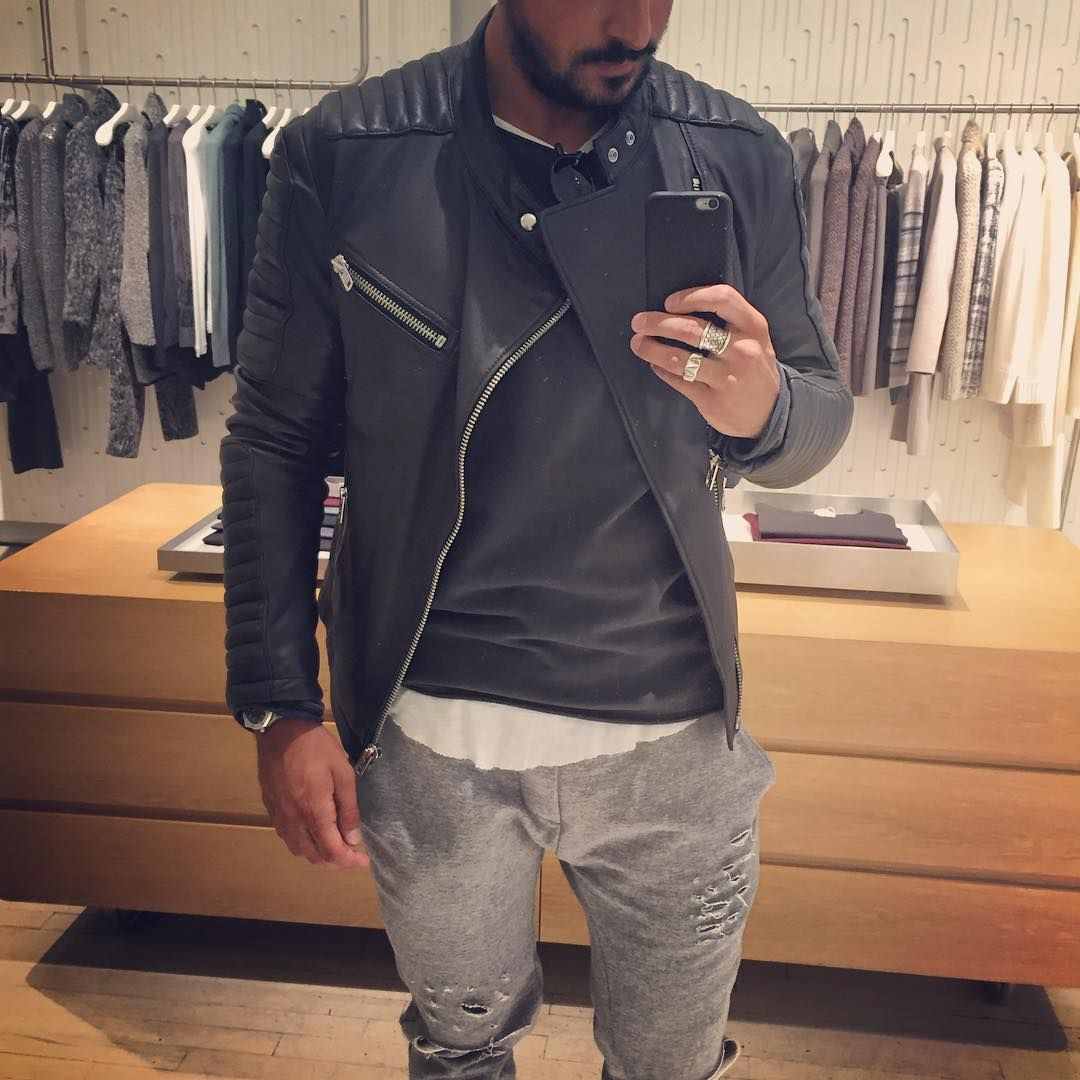 Leather jacket instagram - See This Instagram Photo By Vincenzoragnacci 571 Likes