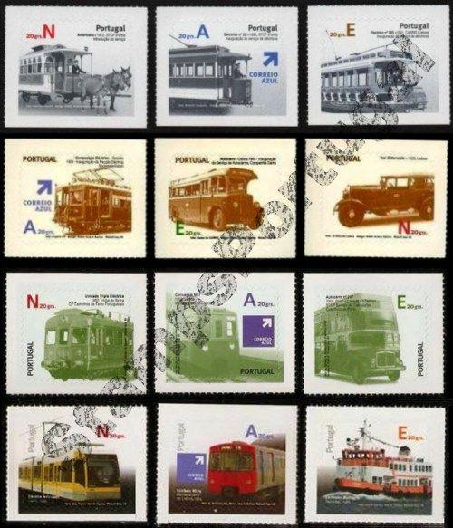 Selos - Pack Transportes 1º, 2º, 3º e 4º Grupo