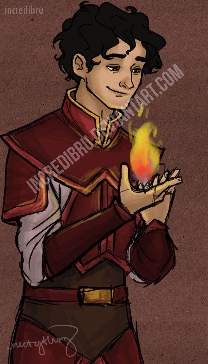 Firebender Leo; art by incredibru