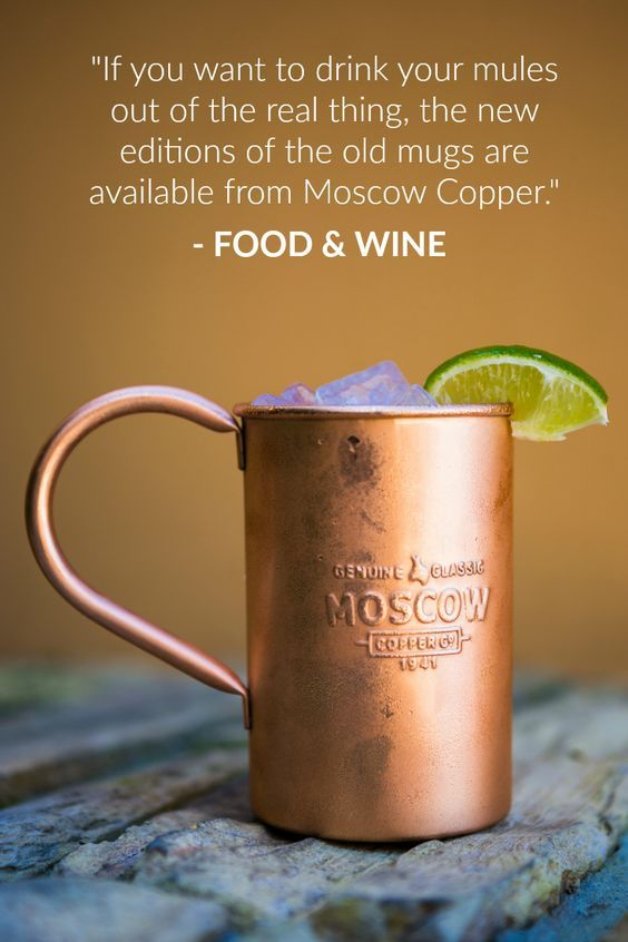 Enjoy your Moscow Mule as originally intended, add the Original Copper Mug to your collection!
