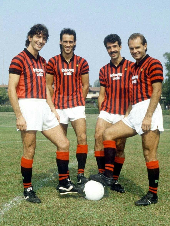 AC Milan 1985 1986 Paolo Rossi Mark Wayne Hateley Antonio Pietro