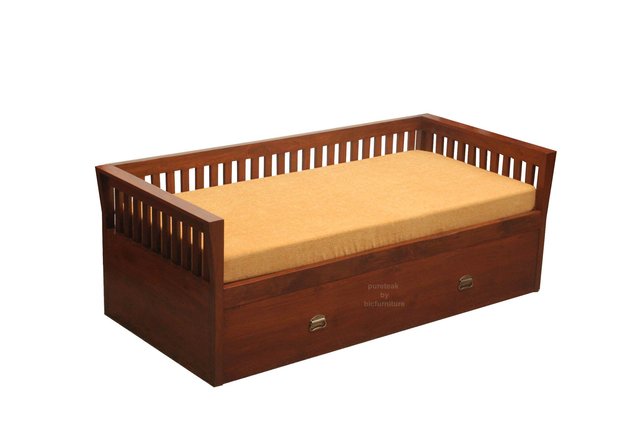 Storage sofa bed & day bed in teak wood Sofa bed wood