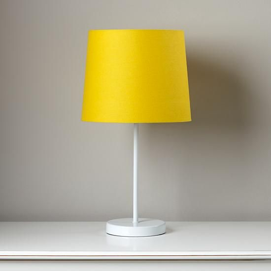 Light Years Yellow Table Shade And White Base In Table Lamps The
