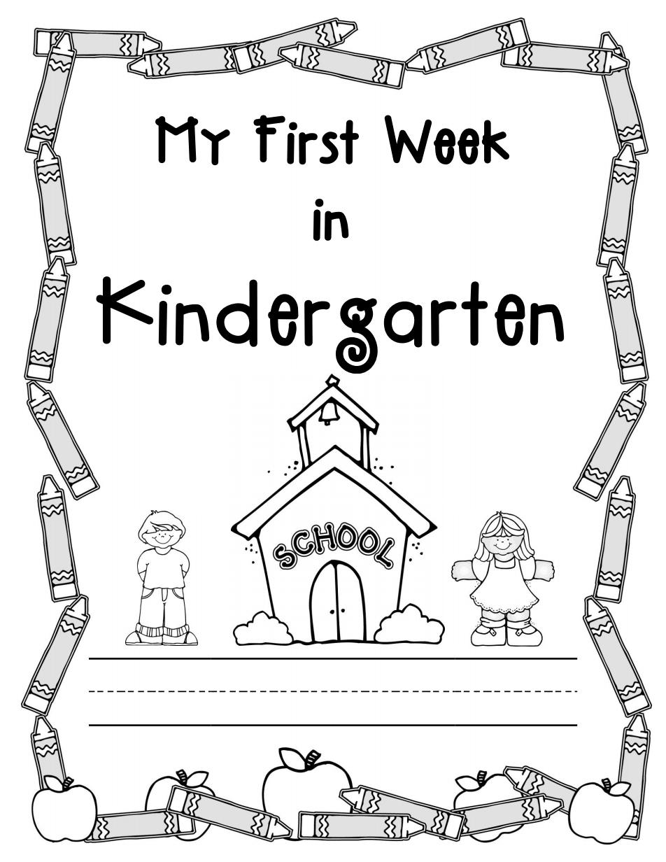 My First Week Of Kinder Packet Pdf Kindergarten First Day Kindergarten First Week Beginning Of Kindergarten [ 1232 x 952 Pixel ]