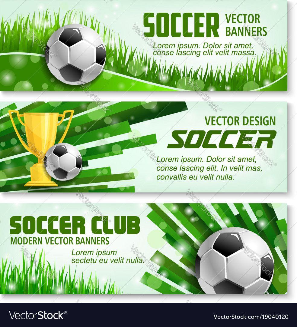 Football Sport Banner Of Soccer BallFootball Sports