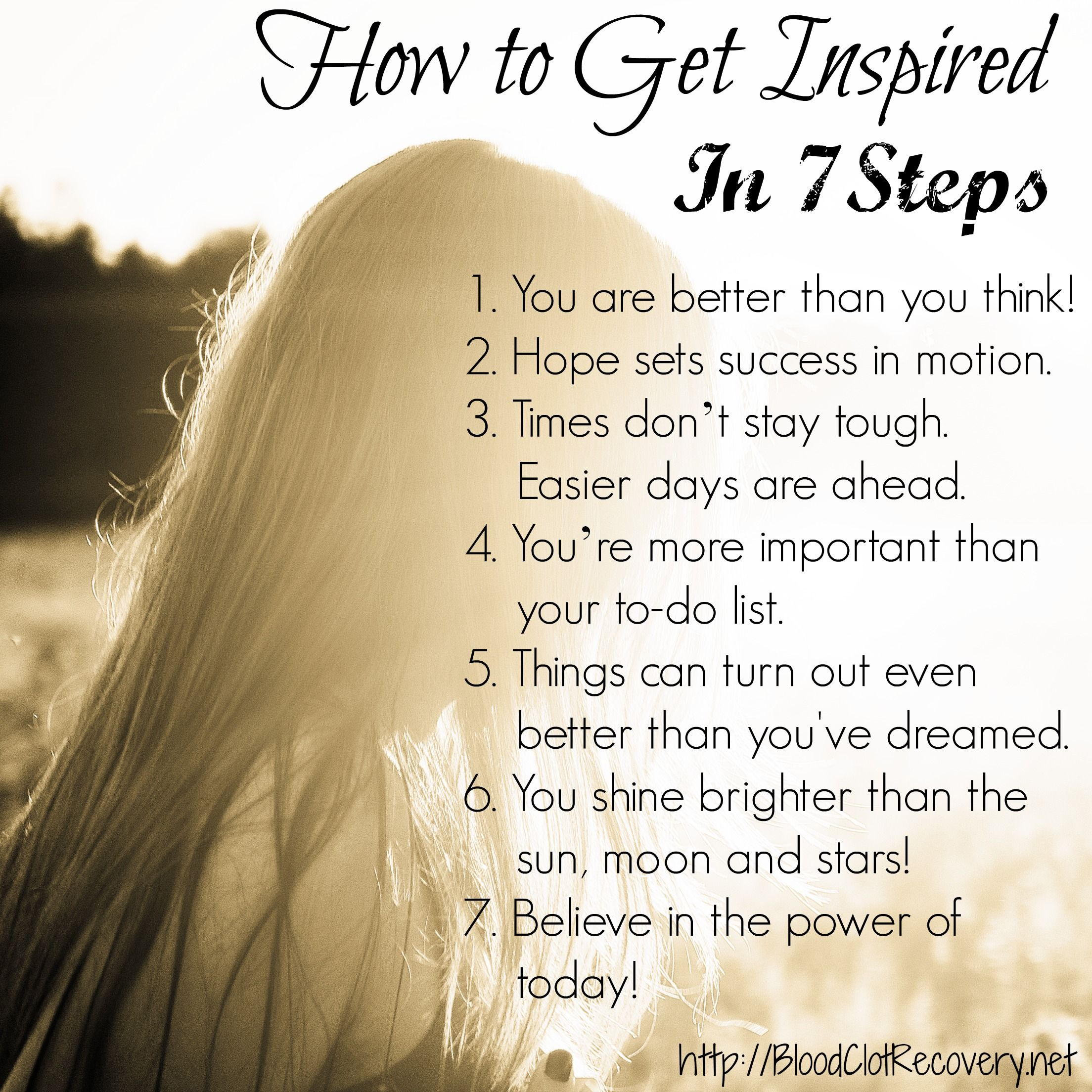 Inspirational Quotes Motivation: How To Get Inspired In 7 Steps