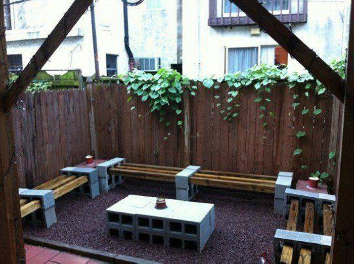 Pleasant 40 Cool Ways To Use Cinder Blocks Tuin Pinterest Spiritservingveterans Wood Chair Design Ideas Spiritservingveteransorg