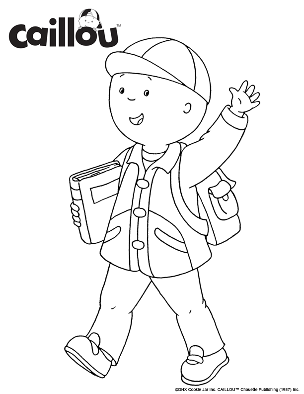 Caillou Is Ready To Learn Printable Caillou Coloring Sheet Caillou Coloring Pages Craft Activities For Kids