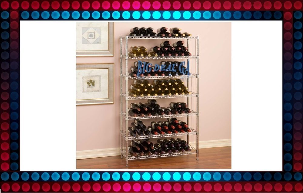 168 Bottle Wine Rack Seville Classics Metal Storage Cellar Holder 7 Shelves Tier #SevilleClassics