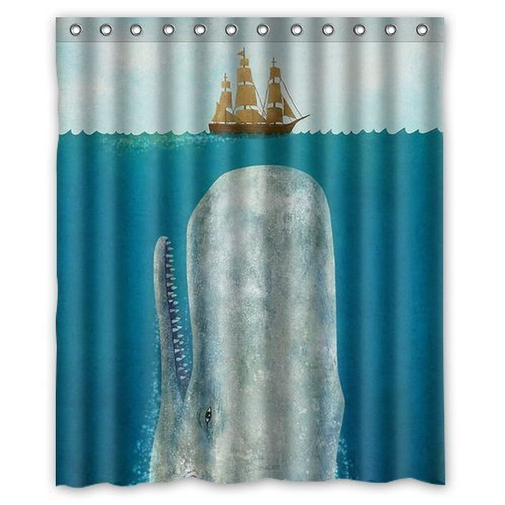 Whale shower curtain - Details About Fashionable Bathroom Collection Custom Waterproof Whale Shower Curtain 60 X