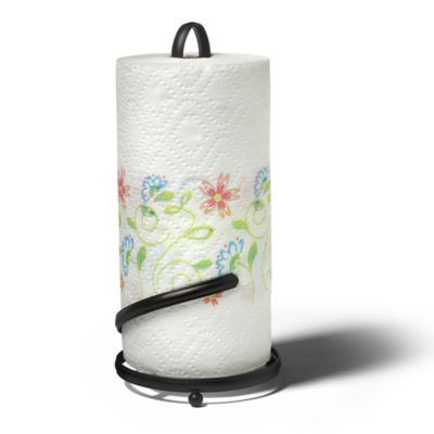 Bed Bath And Beyond Paper Towel Holder Mesmerizing Spectrum™ Ashley Paper Towel Holder In Black  Bedbathandbeyond Design Inspiration