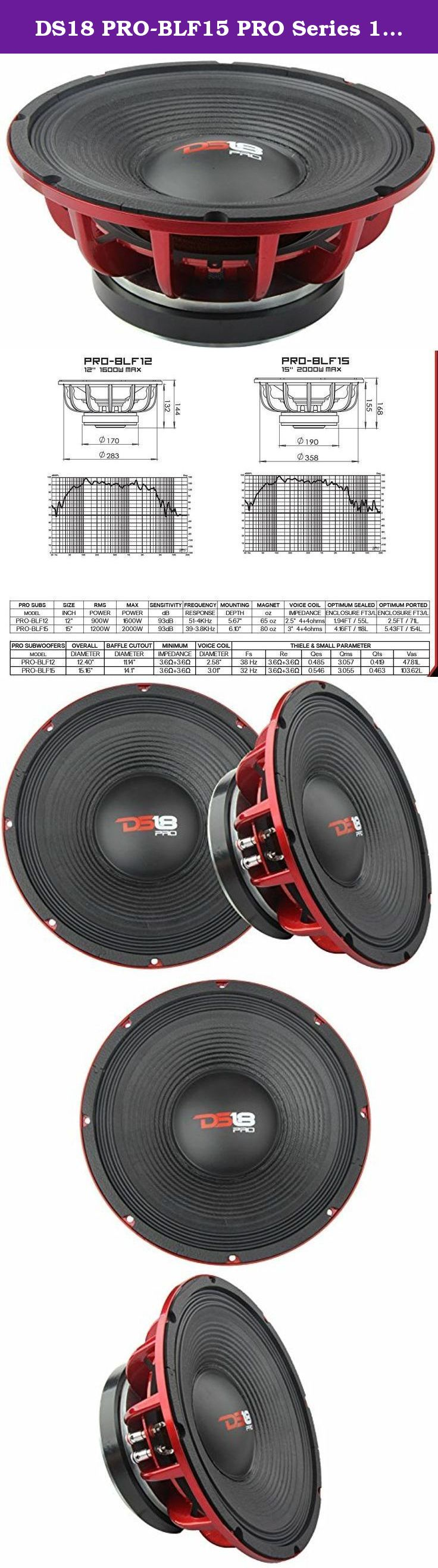 Ds18 Pro Blf15 Series 15 Inch 2000 Watts Subwoofer Engi 1 Engineered And Designed