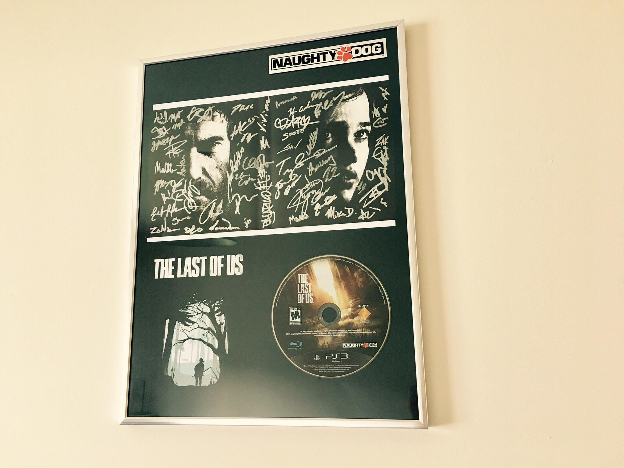 I framed my signed copy of the last of us httpifttt