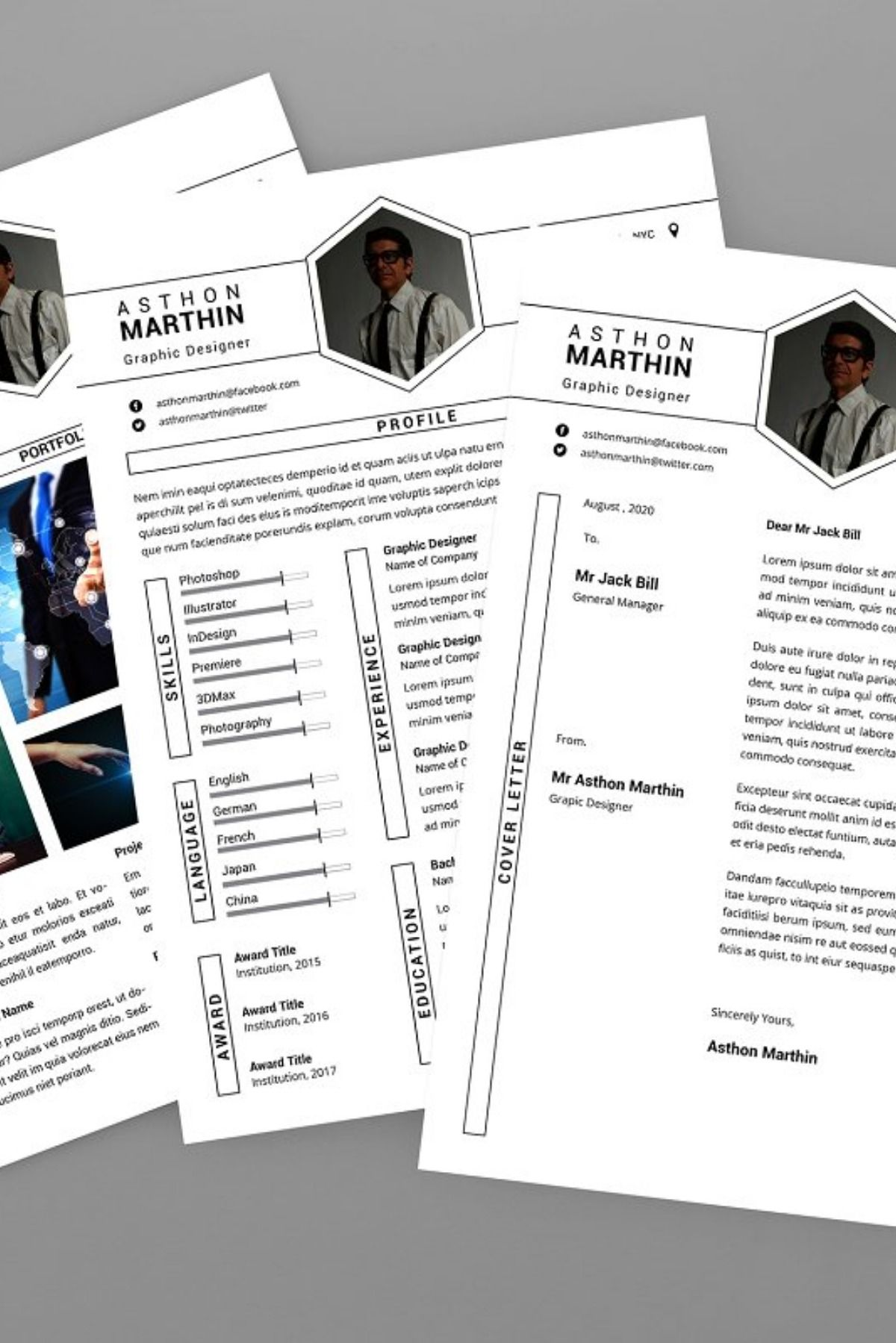 White CV Resume Designer Creative resume template free