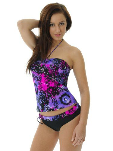 82628f20602 Tie Dye Tankini Swim Suit 2 Piece Set Swimwear Junior $43.99 | Swim ...
