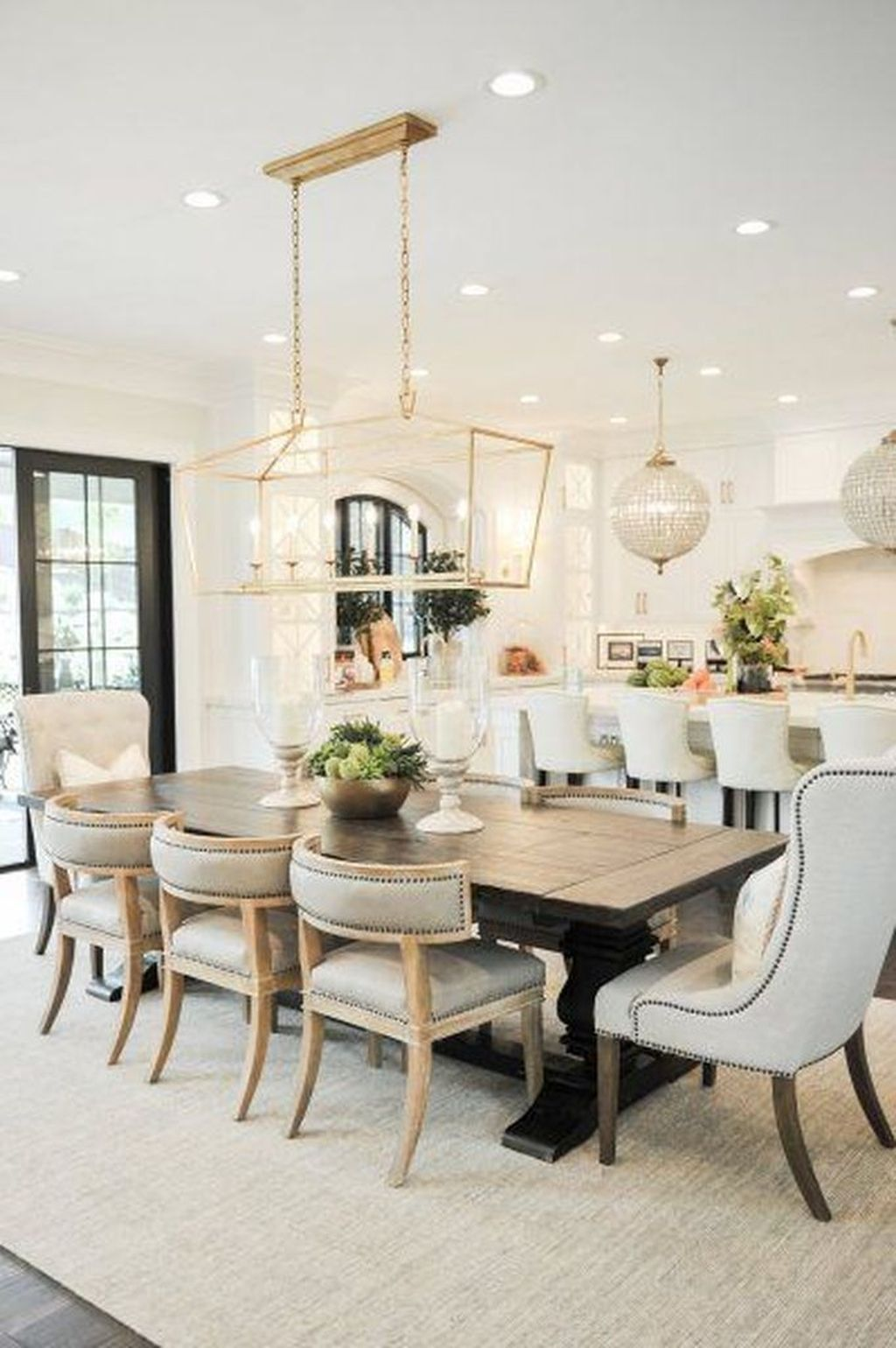 Brick Outdoor Kitchen Ideas, 30 Fascinating Dining Room Design Ideas For Your Big Family In 2020 Modern Farmhouse Dining Modern Farmhouse Dining Room Dining Room Inspiration