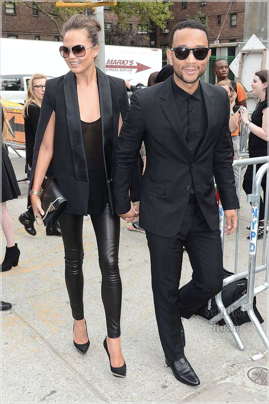 Chrissy Teigen John Legend Attends The Vera Wang Show NYFW