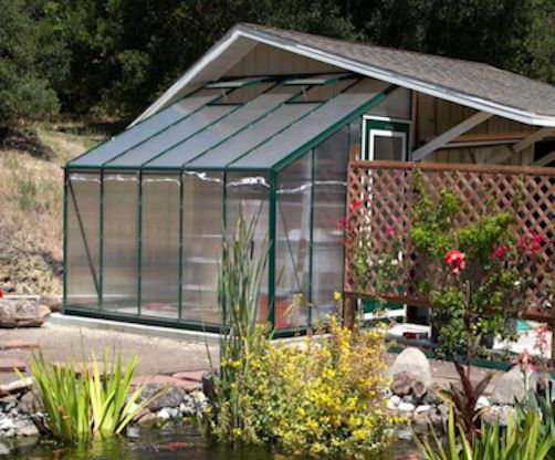 Best Buy Polycarbonate Greenhouse with Green Frame