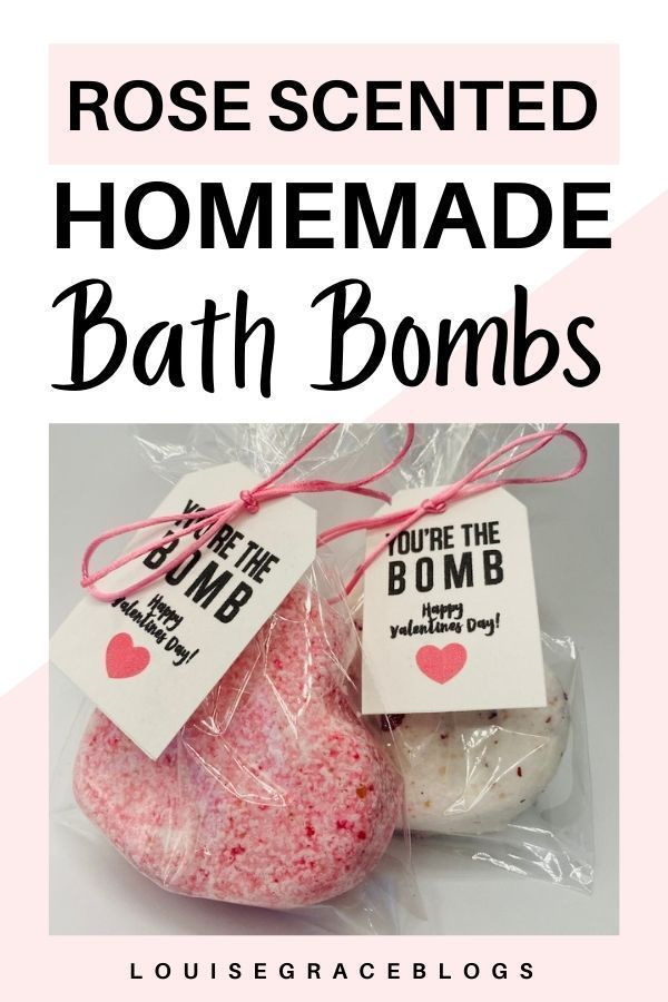 Rose scented DIY bath bombs Learn how to make thes
