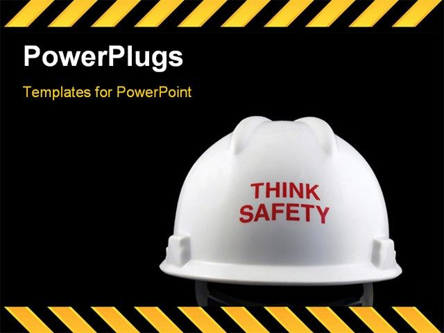 Powerpoint Template Displaying Think Safety Message On The Back Of
