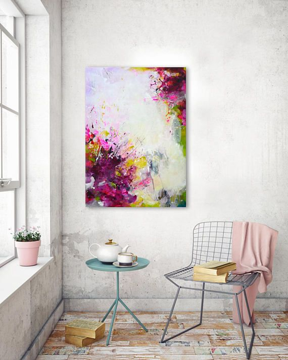 Original Large Colorful Abstract Painting Modern Art Bold